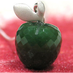Gin Emerald Jade Apple Pendant Necklace