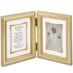 Personalized Grandparent Gold Bi-fold Frame