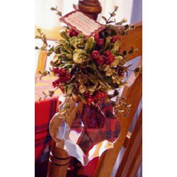 Kissing Krystal Diamond Mistletoe Hanging Ornament