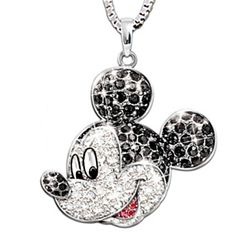 """Mickey Mouse Classic"" Swarovski Crystal Pendant"