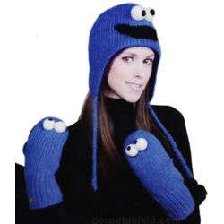 Cookie Monster Knitwit Hat or Gloves