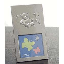 Silver Teddy Bear Photo Frame