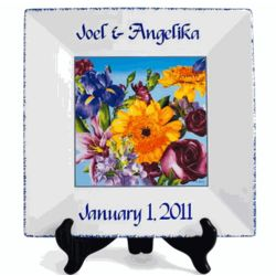 Personalized Square Anniversary Plate