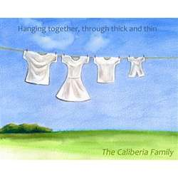 Family Clothesline Personalized Art Print