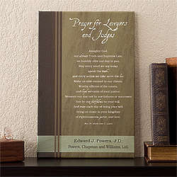 Personalized Lawyer's Prayer Canvas Art