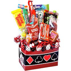 Casino Nights Nostalgic Candy Basket