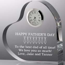 Personalized Father's Day Heart with Clock