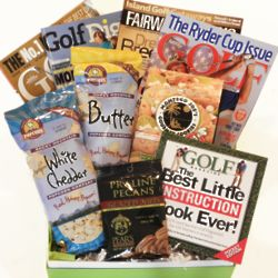 Golf Magazines and Snacks Cheeriodical Gift Box