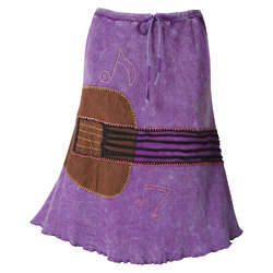 Guitar Applique Skirt