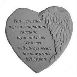 Loss of Pet Angel Wing Memorial Stone