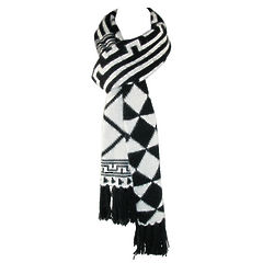 Geometric Print Winter Scarf