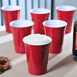 6 RedNeck Ceramic Red Cups