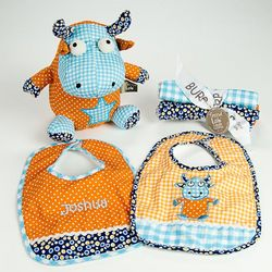 Baby Bibs, Burp Cloths, and Stuff Toy Gift Set