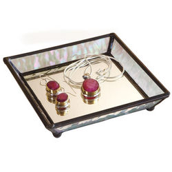 Glass Treasure Jewelry Valet Tray