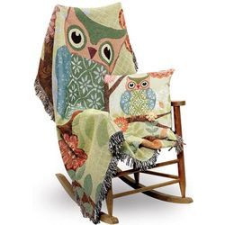 Forest Owl Tapestry Throw Blanket