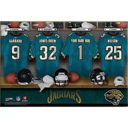 Jacksonville Jaguars 16x24 Personalized Locker Room Canvas Print