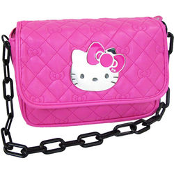 Hello Kitty Hot Pink Quilted Shoulder Bag