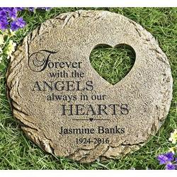 Personalized angels always in our hearts memorial garden stone personalized angels always in our hearts memorial garden stone workwithnaturefo