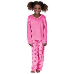 Heart Velour Pajamas for Girls