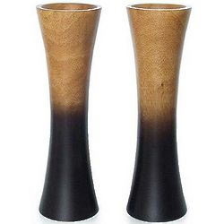 Mango Wood Volcano Vases