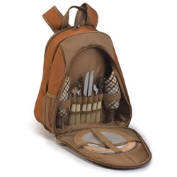 Brown Fairmont Picnic Backpack