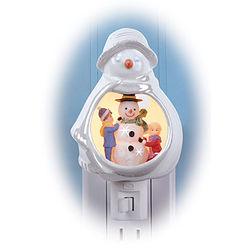 Porcelain Snowman Nightlight