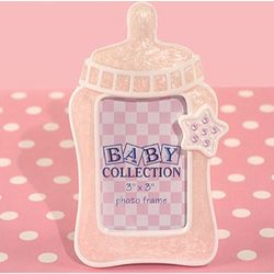 Cute Baby Bottle Frame Favor