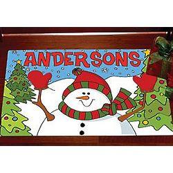 Personalized Santa Or Snowman Doormat