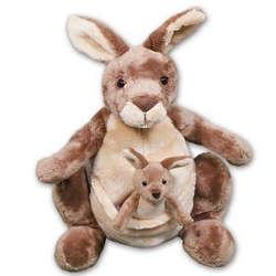 Jirra Kangaroo with Baby Personalized Stuffed Animal