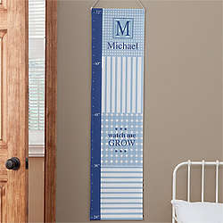 Gingham Personalized Growth Chart