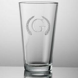 Monogrammed Laser Engraved Beer Glass