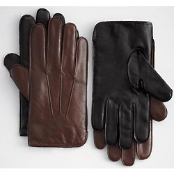 Men's Leather and Cashmere Gloves