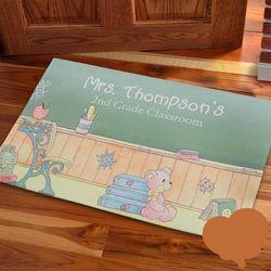 Precious Moments Personalized Teacher Doormat