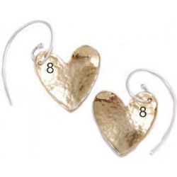 8th Anniversary Bronze Heart Earrings