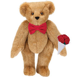 Classic Bowtie Teddy Bear with Red Roses