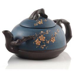 Blue Cherry Blossom Yixing Teapot