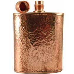 The Freedom Hammered Copper Flask