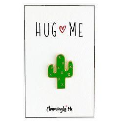 'Hug Me' Enamel Cactus Lapel Pin