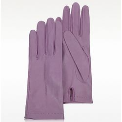 Women's Purple Italian Leather Gloves