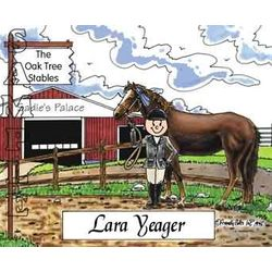 Horse Lover Friendly Folks Personalized Cartoon