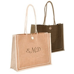 Personalized Large Jute Shopping Bag
