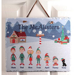 Personalized Christmas Family Characters Slate Plaque