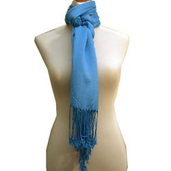 Juicy Sateen Blue Pashmina Wrap
