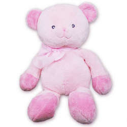 Tender Rattles Pink Bear Personalized Stuffed Animal