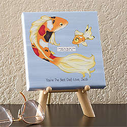 Big Fish, Little Fish Personalized Canvas Art