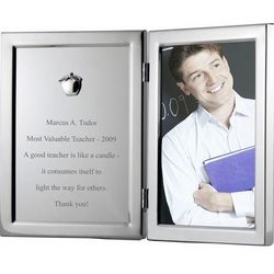 Silver Apple Frame with Plaque
