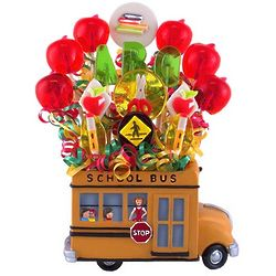 Teacher's Hop on the Bus Lollipop Bouquet