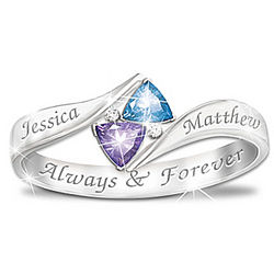 Sterling Silver Love's Promise Personalized Ring