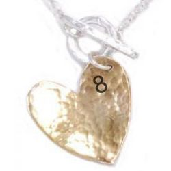 8th Anniversary Bronze Heart Necklace