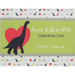 Dinosaurs Boy's Personalized Valentine's Day Cards
